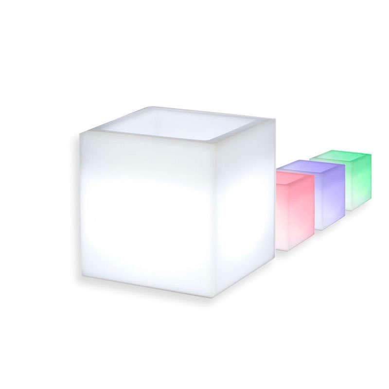 Led cube planter KANTIG RGBW rechargeable,